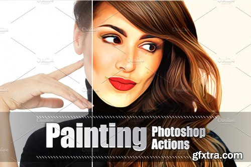 CreativeMarket - 22 Painting Photoshop Actions 3937931