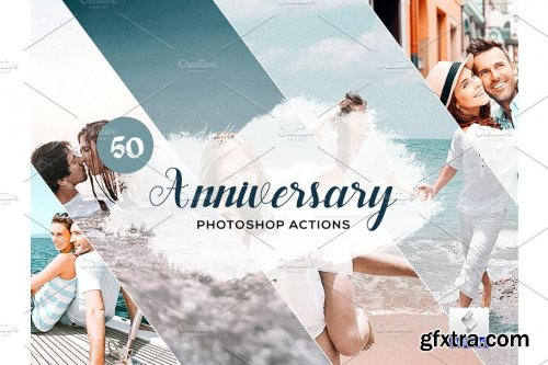 CreativeMarket - 50 Anniversary Photoshop Actions 3934257