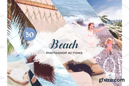 CreativeMarket - 30 Beach Photoshop Actions 3934283