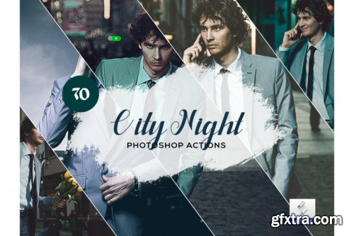 70 City Night Photoshop Actions