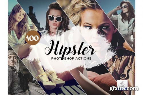 CreativeMarket - 100 Hipster Photoshop Actions 3934706