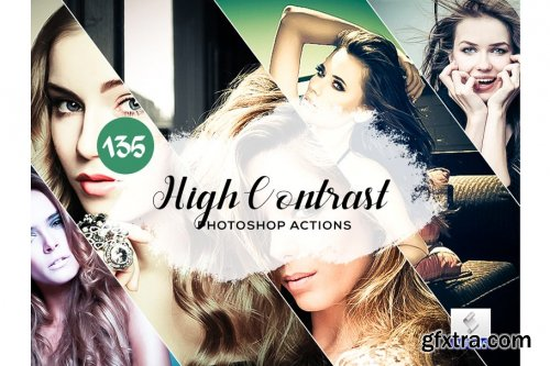 CreativeMarket - 135 High Contrast Photoshop Actions 3934700