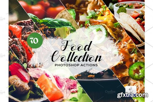 CreativeMarket - 70 Food Collection Photoshop Actions 3934689