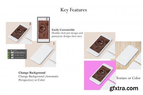 CreativeMarket - Phone Screen /UI/Instagram Mockup 3915889