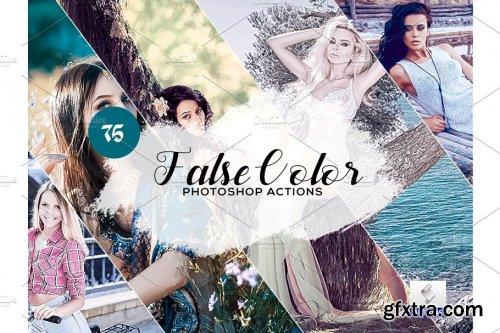 CreativeMarket - 75 False Color Photoshop Actions 3934588