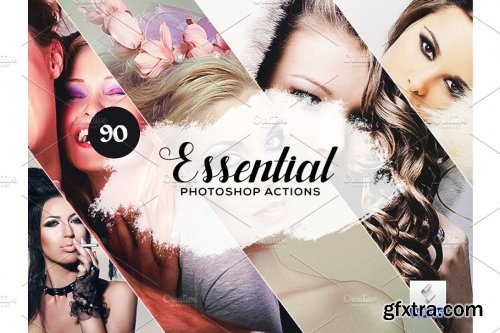 CreativeMarket - 90 Essential Photoshop Actions 3934449