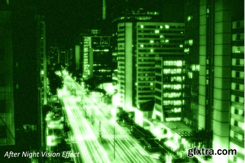 CreativeMarket - Night Vision Photoshop Action 3740036