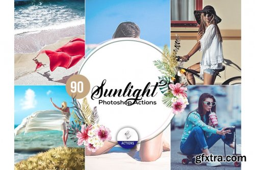 CreativeMarket - 90 Sunlight Photoshop Actions 3937977