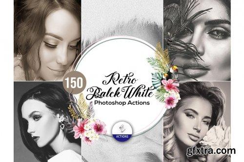 CreativeMarket - 150 Retro BW Photoshop Actions 3937957