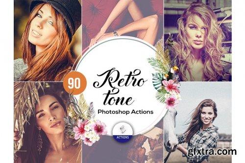 CreativeMarket - 90 Retro Tone Photoshop Actions 3937960