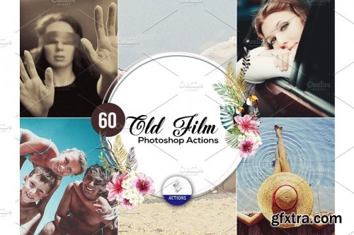 CreativeMarket - 60 Old Film Photoshop Actions 3937929