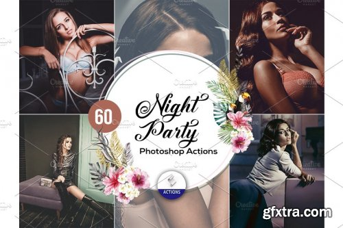 CreativeMarket - 60 Night Party Photoshop Actions 3937925