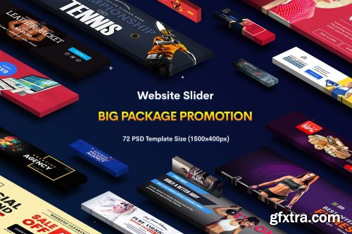 Promotion Website Sliders - 72 PSD