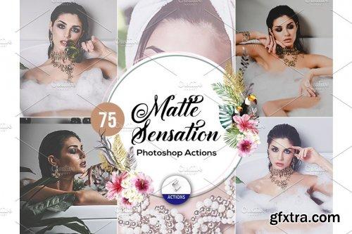 CreativeMarket - 75 Matte Sensation Photoshop Actions 3937878