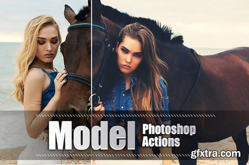 CreativeMarket - 200 Model Photoshop Actions 3937887