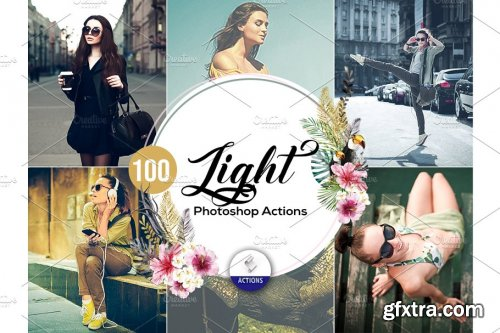 CreativeMarket - 100 Light Photoshop Actions 3937837