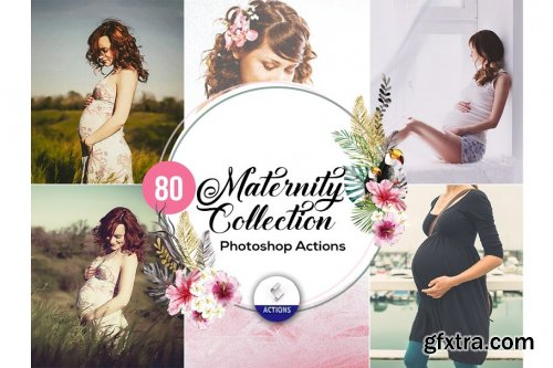 CreativeMarket - 80 Maternity Photoshop Actions 3937863