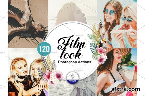 CreativeMarket - 120 Film Look Photoshop Actions 3937459