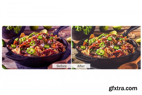 CreativeMarket - 80 Food Photoshop Actions 3937507