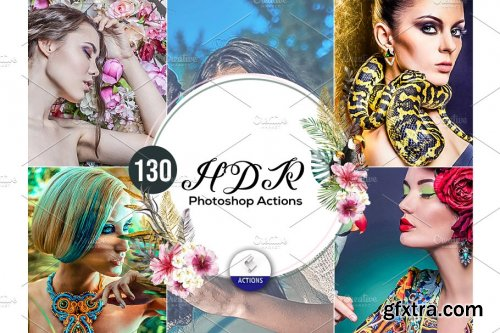 CreativeMarket - 130 HDR Photoshop Actions 3937541