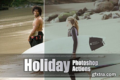 CreativeMarket - 150 Holiday Photoshop Actions 3937606