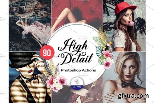 CreativeMarket - 90 High Detail Photoshop Actions 3937598