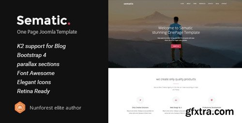 ThemeForest - Sematic v2 - One Page Joomla Template - 22990621