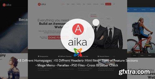 ThemeForest - Aaika v8 - Responsive Multipurpose Joomla Template - 11937707