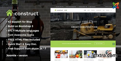 ThemeForest - Construct v2 - Construction Joomla Template - 13900071