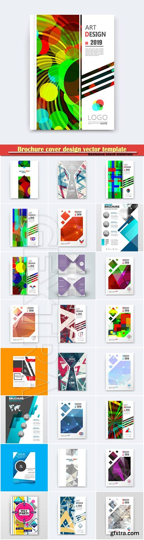 Brochure cover design vector template # 15
