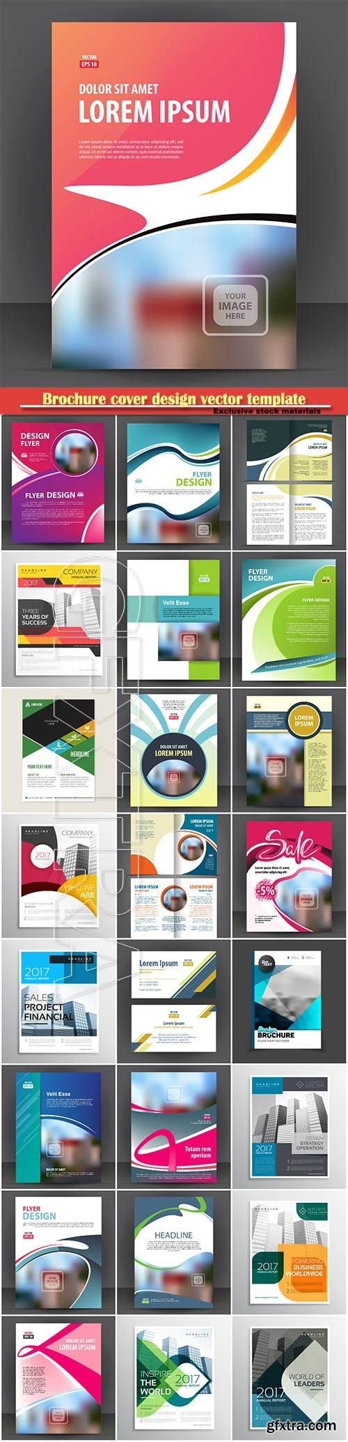 Brochure cover design vector template # 17