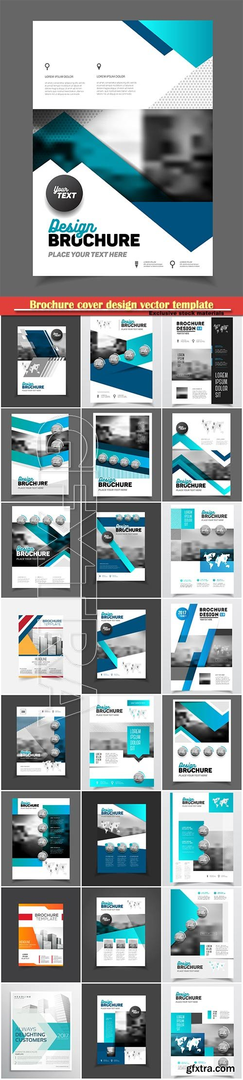 Brochure cover design vector template # 16
