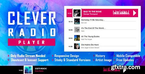 CodeCanyon - CLEVER v1.3 - HTML5 Radio Player With History - Shoutcast and Icecast  - WordPress Plugin - 23950259