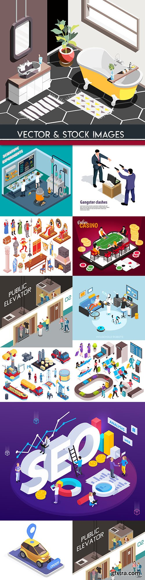 Isometric social system and people illustration 11
