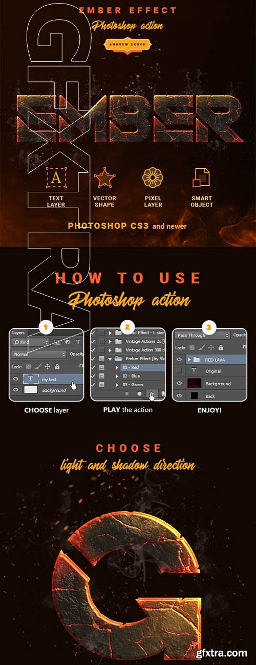 GraphicRiver - Ember Effect - Photoshop Action 24195902