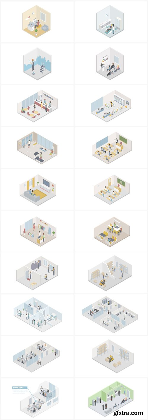 Videohive - Isometric Flat World - 23044315