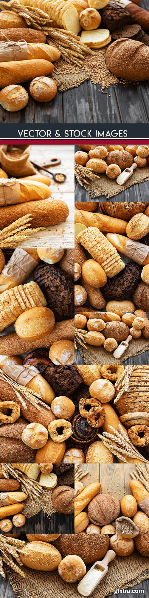 Bakery products and fresh bread from bakery