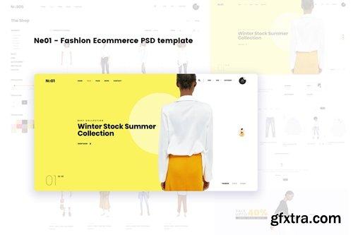 Ne01 - Fashion Ecommerce PSD template