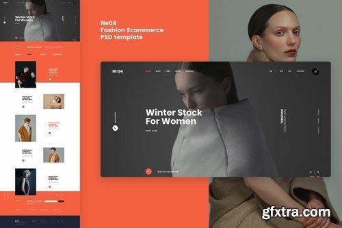 Ne04 - Fashion Ecommerce PSD template