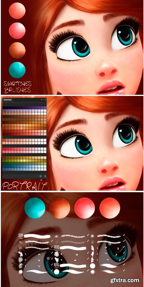 Cartoon Magic Swatches