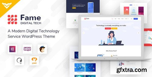 ThemeForest - Fame v1.1 - Digital Technology/Service WordPress Theme - 23712074