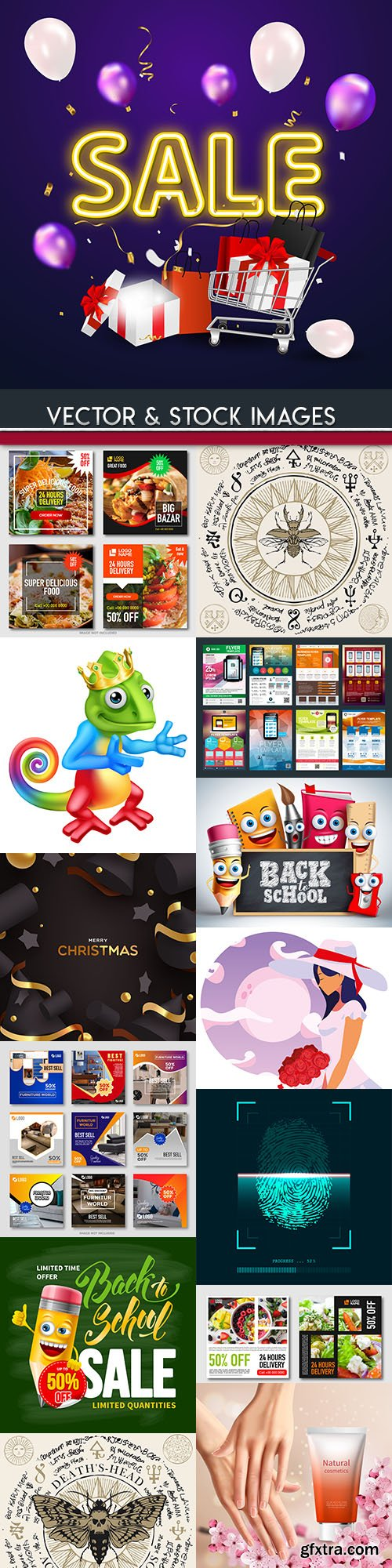 Modern big collection illustrations and elements design 47