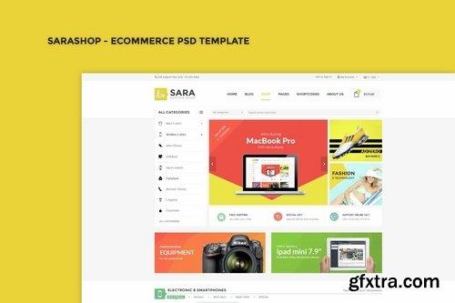 SaraShop - eCommerce PSD Template