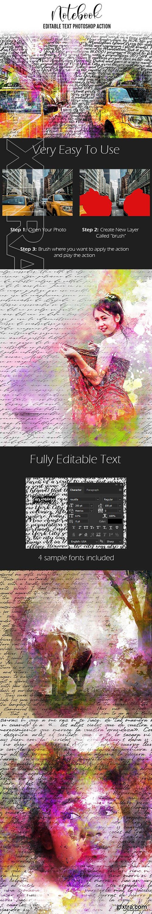 GraphicRiver - Notebook Photoshop Action 24181068