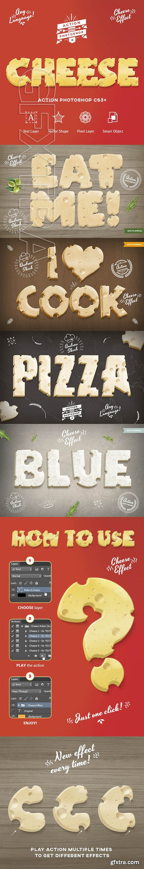 GraphicRiver - Cheese Photoshop Action 24134636