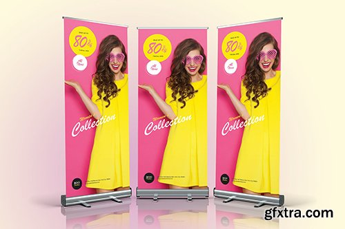 Fashion Sale Roll Up Banner 05