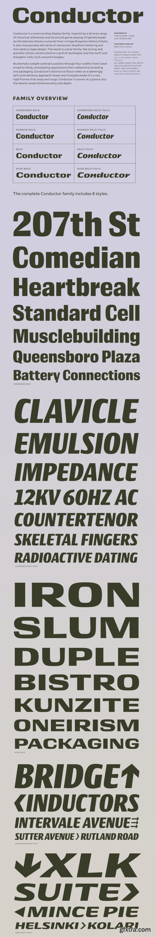 Conductor Font Family