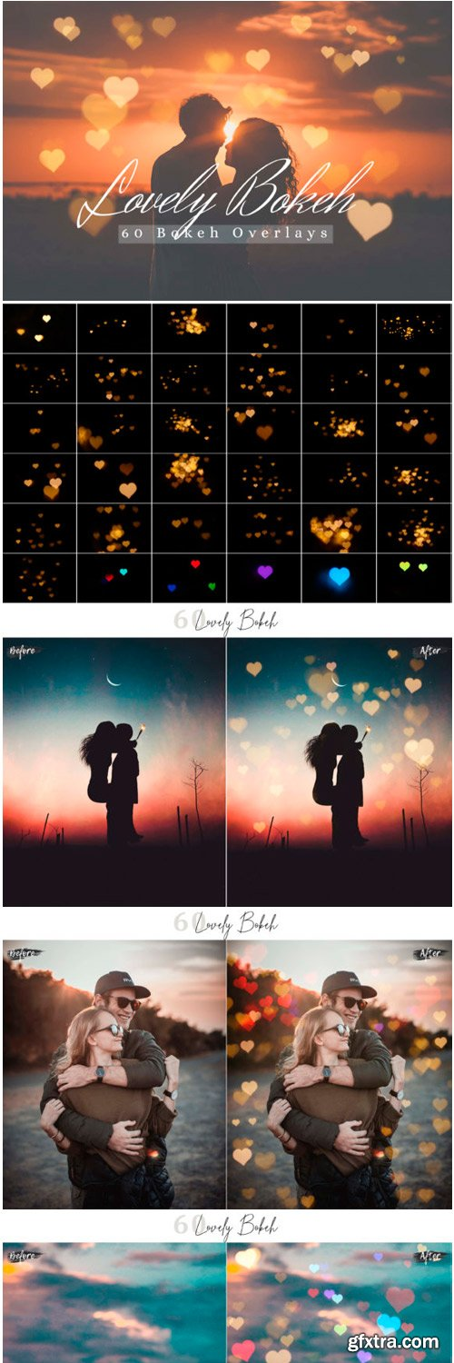 60 Lovely Bokeh Lights Effect Overlay 1684575