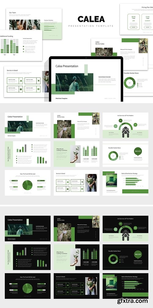 Calea : Green Color Tone Pitch Deck Keynote