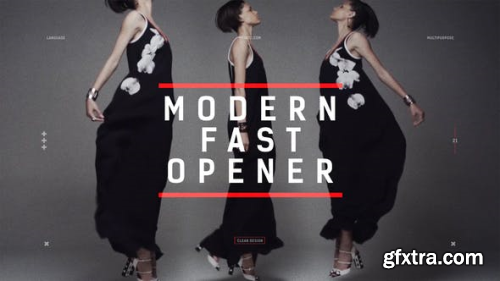 VideoHive Modern Fast Opener Dynamic Typography Fashion Event Promo Clean Stomp Rhythmic 22566171